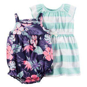 Baby Girl 2-pk Dress & Romper Set Outfit Summer